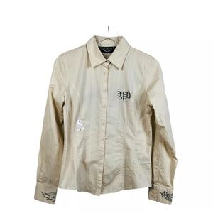 Harley Davidson Embroidered Angel Wing Shirt Small